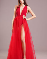 90687 – Gonnellone tulle – rosso