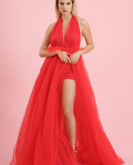 Gonnellone tulle rosso